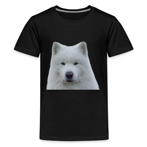 Hvit samojed - Premium T-skjorte for tenåringer
