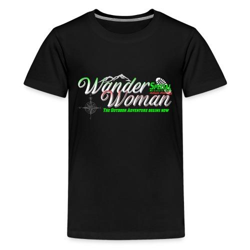 Special Edition Wander Woman Wandern Geschenk - Teenager Premium T-Shirt