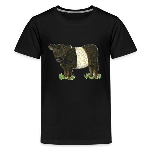 Beltie Belted Galloway Cow - Teenage Premium T-Shirt