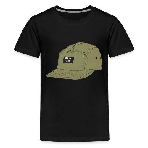 5 panel Get in line hoodie - Teenage Premium T-Shirt