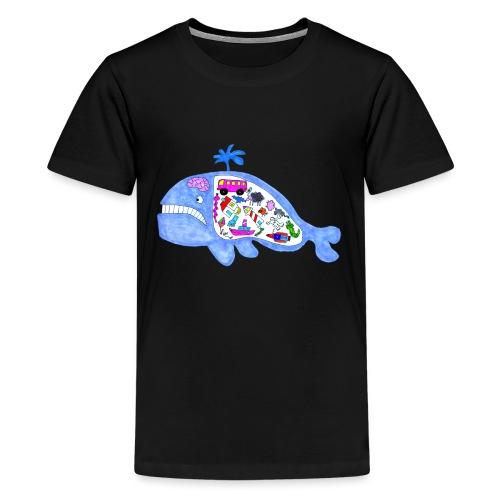 ballena de cosas recortado prueba - Camiseta premium adolescente