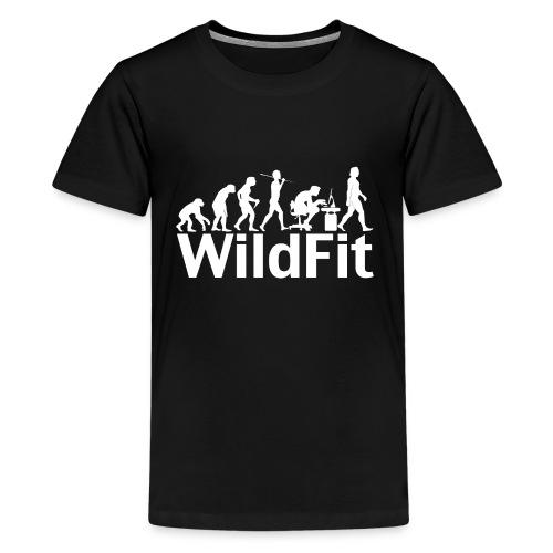 WildFit Logo Evolution Weiß - Teenager Premium T-Shirt