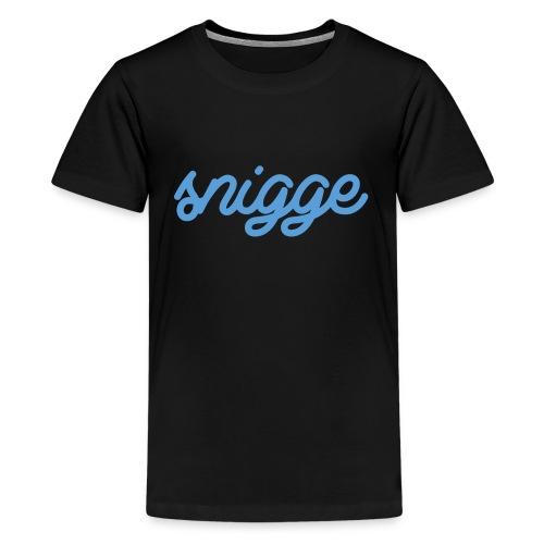 snigge schriftzug golfcap png - Teenager Premium T-Shirt