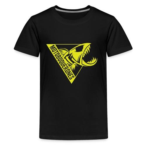 Logo Motoboquerones amarillo - Camiseta premium adolescente