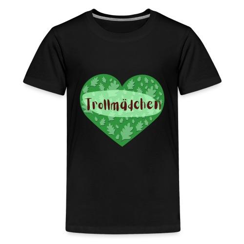 Trollmädchen grün - Teenager Premium T-Shirt