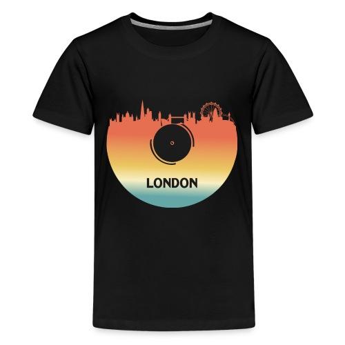 London Skyline Vinyl Schallplatte London Souvenir - Teenager Premium T-Shirt