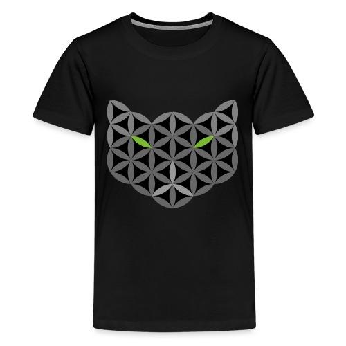The Cat Of Life - Sacred Animals,C01, Dark, . - Teenage Premium T-Shirt