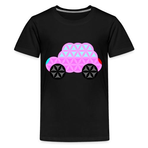The Car Of Life - 01, Sacred Shapes, Pink. - Teenage Premium T-Shirt