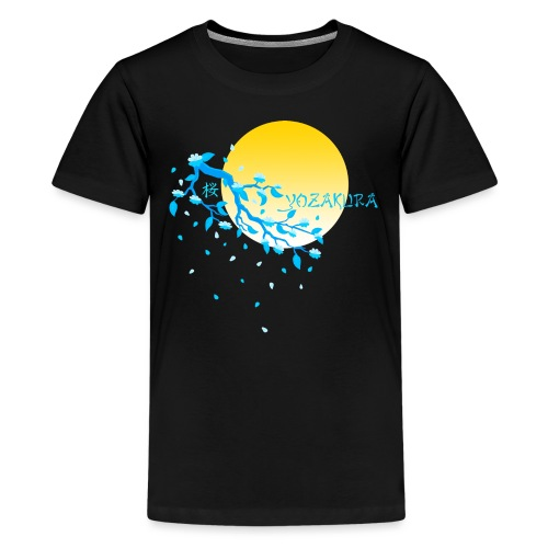 Cherry Blossom Festval Full Moon 2 - Teenager Premium T-Shirt
