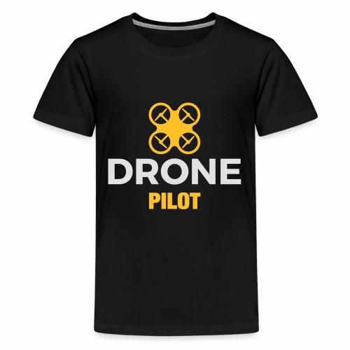 Logo Drone Pilot 5 klein - Teenager Premium T-shirt