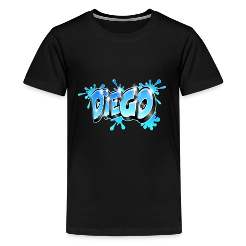 Graffiti name Diego - Teenage Premium T-Shirt
