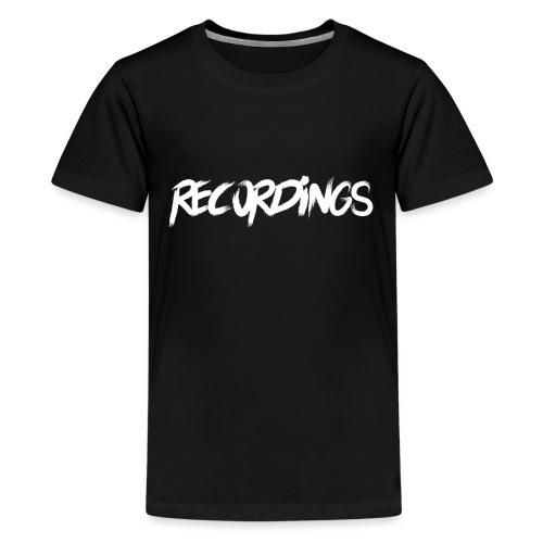 recordings white - Teenager Premium T-shirt
