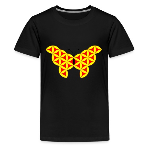 The Butterfly Of Life - Sacred Animals - Teenage Premium T-Shirt