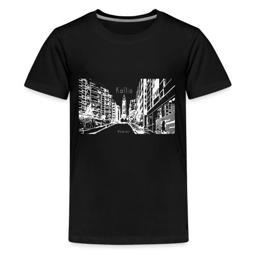 Kallio Helsinki Naisten V-kaula-aukkoinen T-paita - Teinien premium t-paita