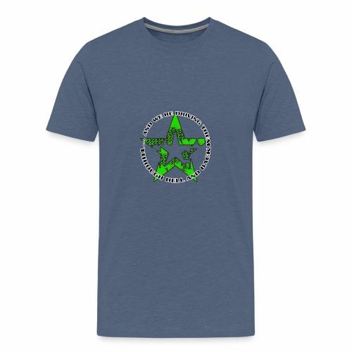 ra star slogan slime png - Teenager Premium T-Shirt