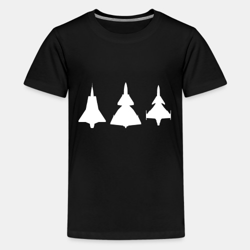 Draken / Viggen / Gripen / jet fighter - Teenage Premium T-Shirt
