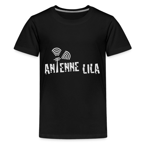 logo quer weiss 1c - Teenager Premium T-Shirt
