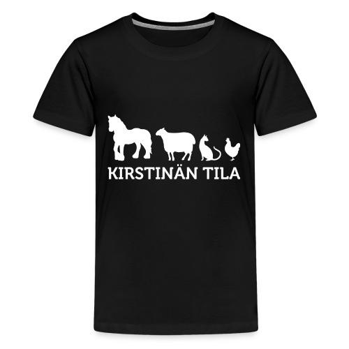 Kirstina Tila - MV NEG - Teinien premium t-paita