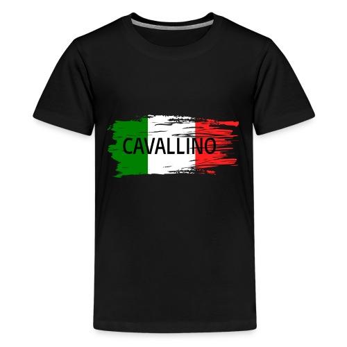 Cavallino auf Flagge - Teenager Premium T-Shirt