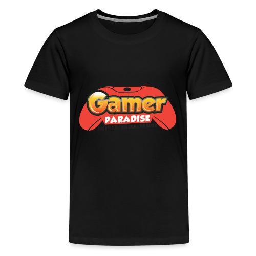 Gamer Paradise Logo - Teenager Premium T-Shirt
