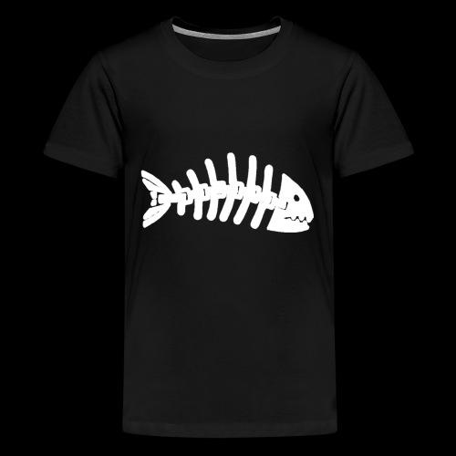 Kun fiske logo - Premium T-skjorte for tenåringer