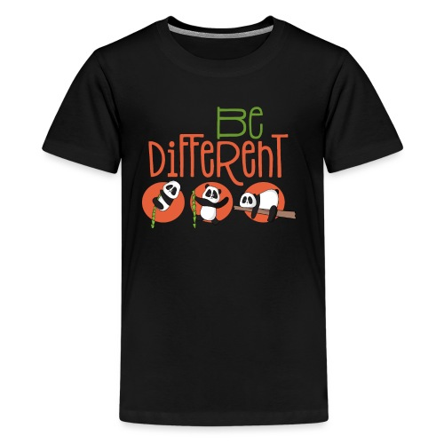 Be Different Panda Bär - be yourself - Teenager Premium T-Shirt