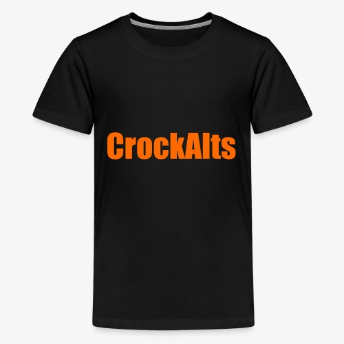 CrockAlts In Orange. - Teenage Premium T-Shirt