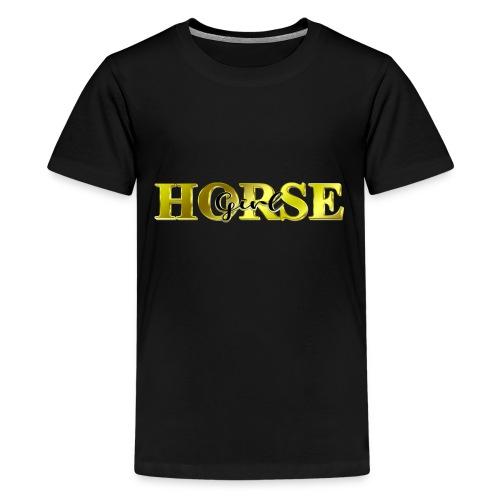 Horsegirl Reiten Pferde Geschenk - Teenager Premium T-Shirt