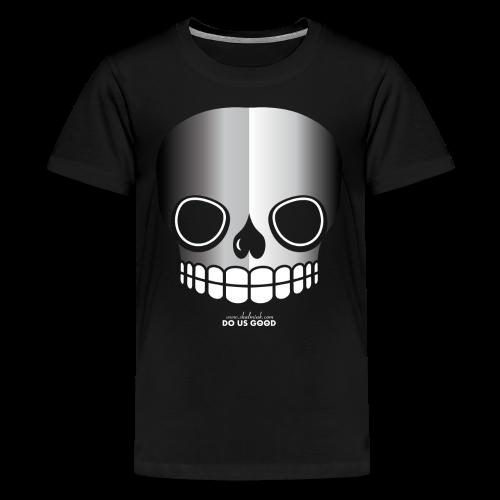 JUST SKULL bw - Teinien premium t-paita