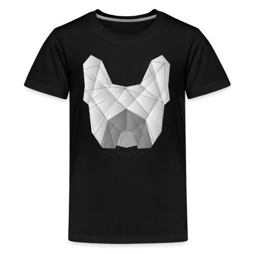 Geometric Frenchie white - Französische Bulldogge - Teenager Premium T-Shirt