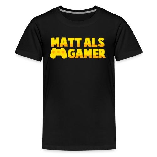 Matt Als Gamer Logo - Teenager Premium T-shirt