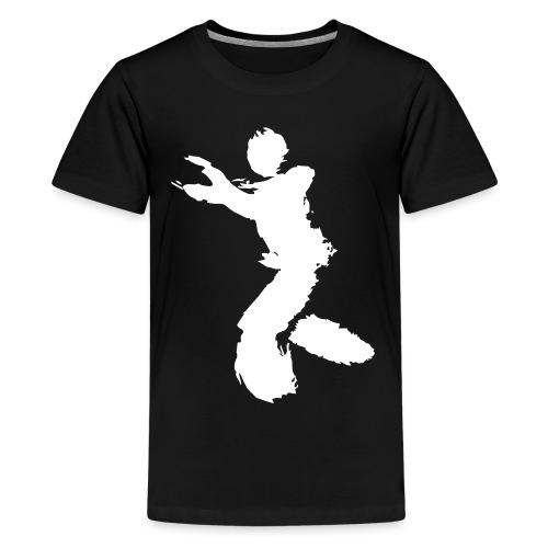 Wing Chun / Kung Fu Tusche Figur VEKTOR - Teenage Premium T-Shirt