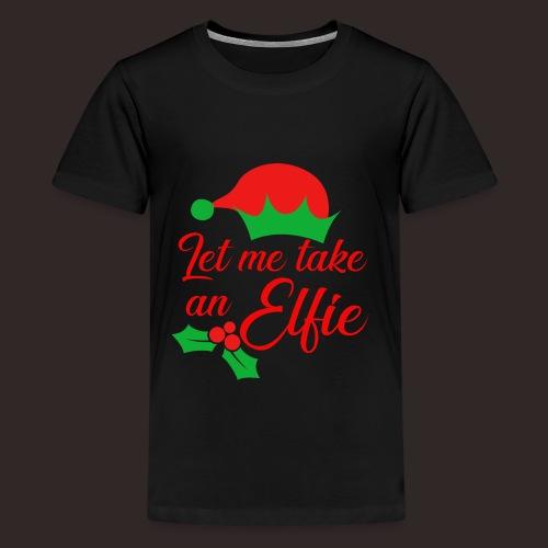 Weihnachten | Elf Mütze Weihnachtself Wortspiel - Teenager Premium T-Shirt
