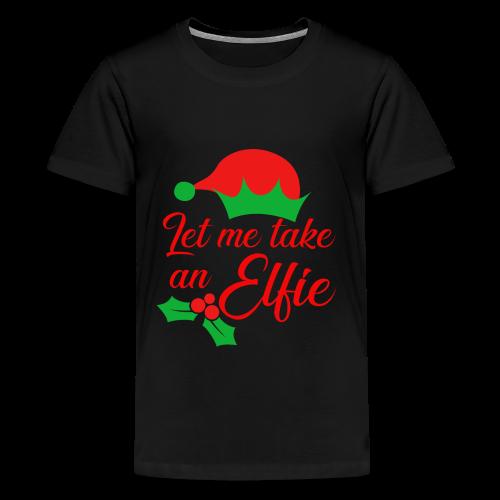 Weihnachten   Elf Mütze Weihnachtself Wortspiel - Teenager Premium T-Shirt