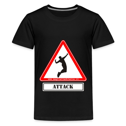attack new testo - Maglietta Premium per ragazzi