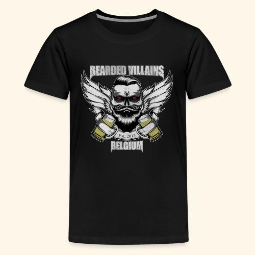 Bearded Villains Belgium - Teenage Premium T-Shirt