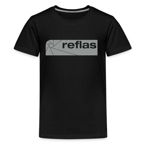 Reflas Clothing Black/Gray - Maglietta Premium per ragazzi