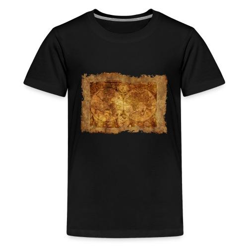 Weltkarte - Teenager Premium T-Shirt
