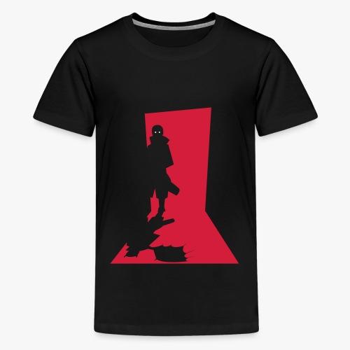 Monster in the Doorway - Teenager premium T-shirt