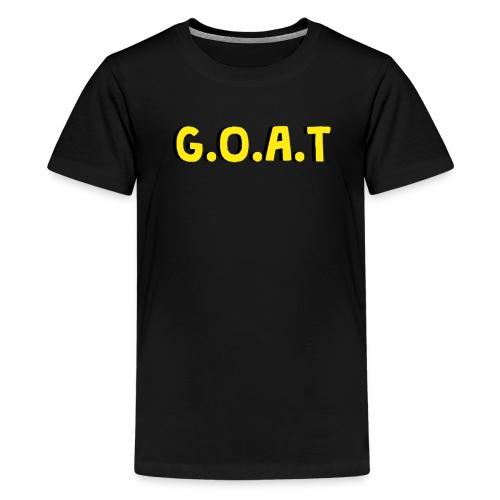 G O A T Design - Teenage Premium T-Shirt