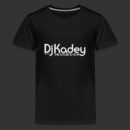 White Dj Kadey Logo - T-shirt Premium Ado