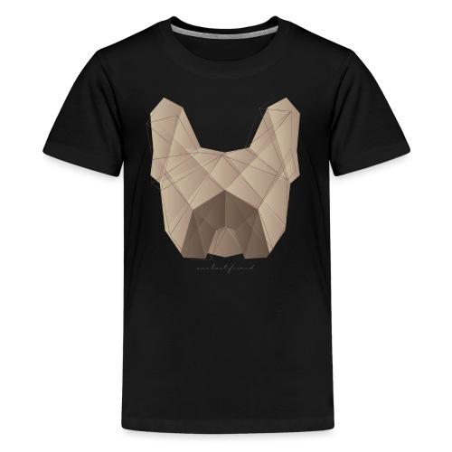 Geometric Frenchie fawn - Französische Bulldogge - Teenager Premium T-Shirt