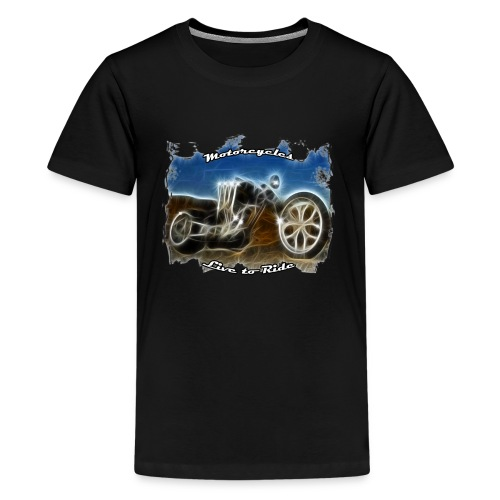 Motorcycle biker woman - T-shirt Premium Ado
