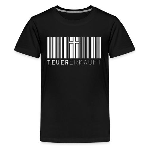 Teuer Erkauft Barcode Jesus Kreuz - Christlich - Teenager Premium T-Shirt