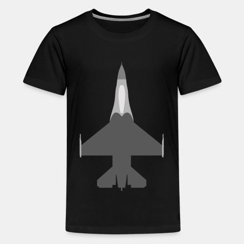 F-16 Viper / Fighting Falcon jet fighter / F16 - Teenage Premium T-Shirt