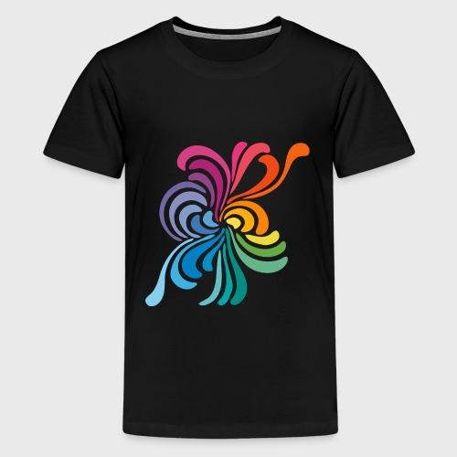 Fleurs multicolore - T-shirt Premium Ado