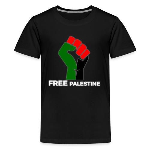 FreePalestine White - Teenage Premium T-Shirt