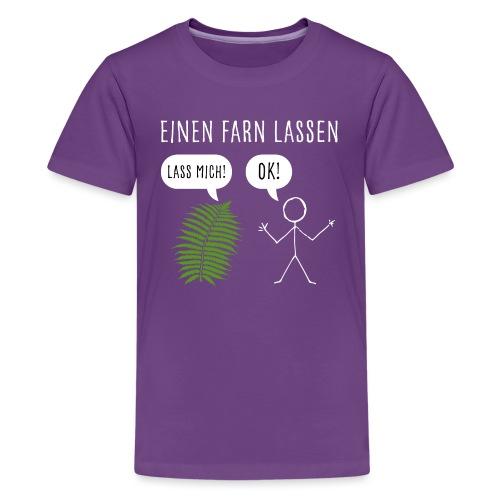 Lustiges Pupsen Furzen Shirt Geschenk witzig - Teenager Premium T-Shirt