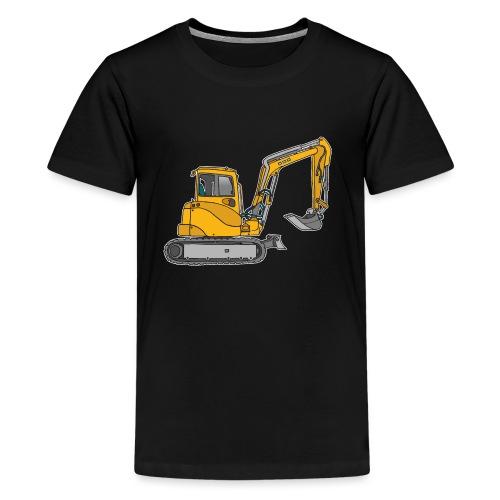 BAGGER, gelbe Baumaschine mit Schaufel und Ketten - Teenager Premium T-Shirt
