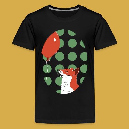 Fuchs und Luftballon - Teenager Premium T-Shirt